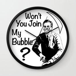 Mr. Rogers Pandemic Lockdown Quarantine Bubble Friendship Wall Clock