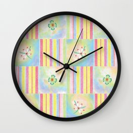 Candy Floral 3 Wall Clock