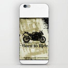 Born to Ride iPhone Skin