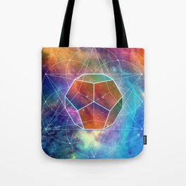 Abstract Sacred Geometry Cosmic Space Tapestry Tote Bag