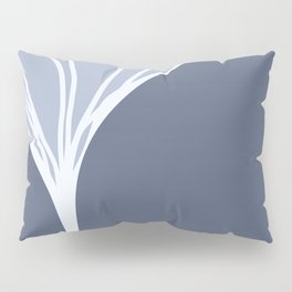 Silvery Blue Ginkgo Leaf Pillow Sham