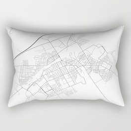 Minimal City Maps - Map Of Baranovichi, Belarus. Rectangular Pillow