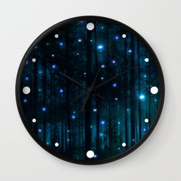Glowing Space Woods Wall Clock