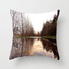 Northwest reflection Throw Pillow