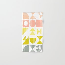 Organic Abstract Shapes in Soft Pastel Colors Hand & Bath Towel