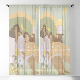 Violet Lamp Sheer Curtain