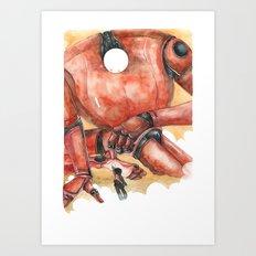 Moonbot #1: Red Art Print