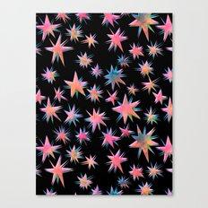 Starry Night {black} Canvas Print