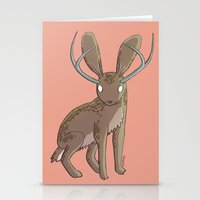 jackalope Stationery Cards featuring Jackalope by Floipoid