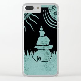 Relaxation (Black) Clear iPhone Case