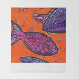 FISH3 Throw Blanket