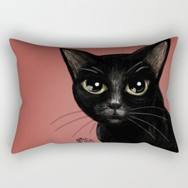 Black in red Rectangular Pillow