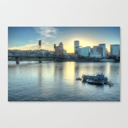 Portland Evening Canvas Print