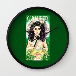Cancer - Art Nouveau Zodiac Wall Clock