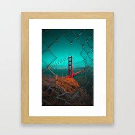 Golden Gate Bridge Teal Skies Framed Art Print