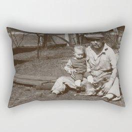 Blue Collar Dad - A Vintage Photo Rectangular Pillow