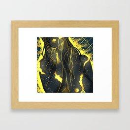 Covered In gold Framed Art Print