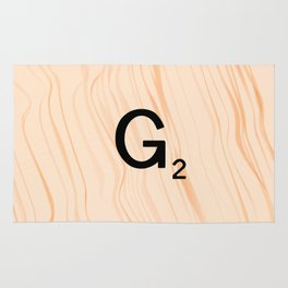 Scrabble Letter G - Scrabble Art and Apparel Rug
