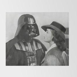 Darth Vader in Casablanca Throw Blanket