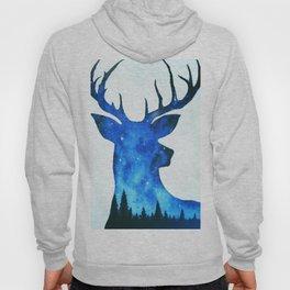 Spirit Deer // Space Antlers // Galaxy Stag // Double Exposure Deer Hoody