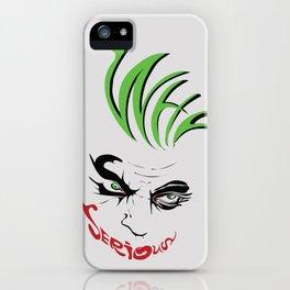 Joker Why So Serious Art Print iPhone Case