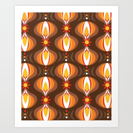 Oohladrop Brown Art Print