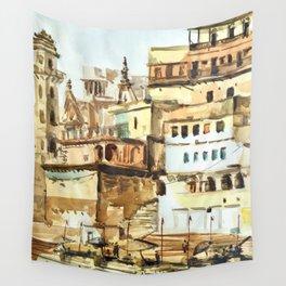 Varanasi India Hindu Pilgrimage Wall Tapestry