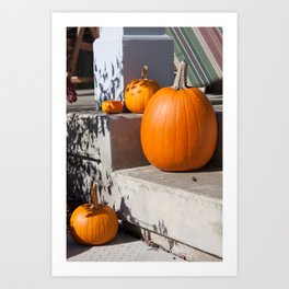 A Family of Pumpkins Art Print