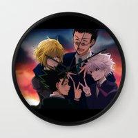 hunter x hunter Wall Clocks featuring Hunter x Hunter: Forever by akayashi