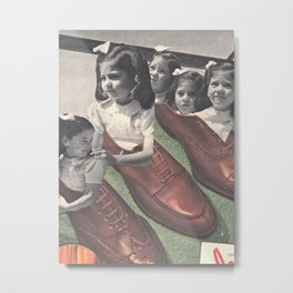 Baby Needs New Shoes Metal Print