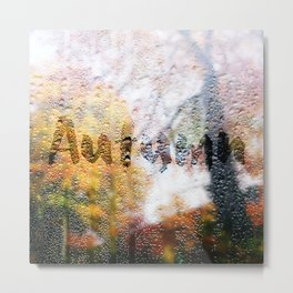 Window in Autumn Metal Print