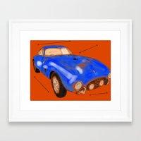 ferrari Framed Art Prints featuring Ferrari by Carlota Atlee