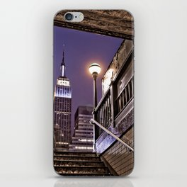 Empire State Subway - New York Photography iPhone Skin