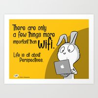 There are only a few things more important than wifi... Art Print