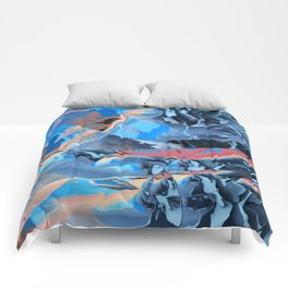 The edge of blue mystery Comforters