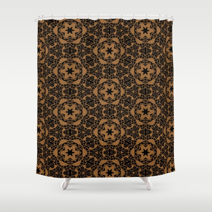 Black and Bronze Kaleidoscopes 2671 Shower Curtain