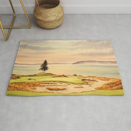 Chambers Bay Golf Course 15th Hole Rug