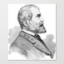 Robert E Lee Portrait Illustration Canvas Print