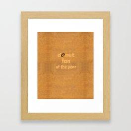 Donut Fan Framed Art Print