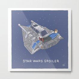 STAR SPOILER WARS Metal Print