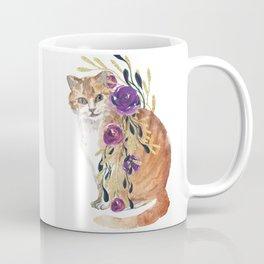 cat with flower boa Coffee Mug