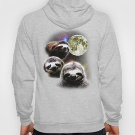 Funny Space Sloths Hoody