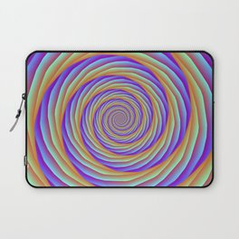Coiled Cables in Orange Blue and Pink Laptop Sleeve