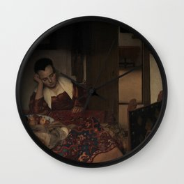 "Johannes Vermeer ""A Woman Asleep at Table"" Wall Clock"