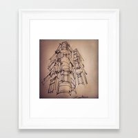 building Framed Art Prints featuring BUILDING by cegraph