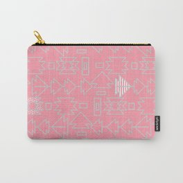 Soft bohemian pattern in pink Carry-All Pouch
