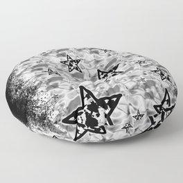 White Toxic Stars Floor Pillow