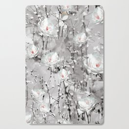 Flowers White Snow Cutting Board