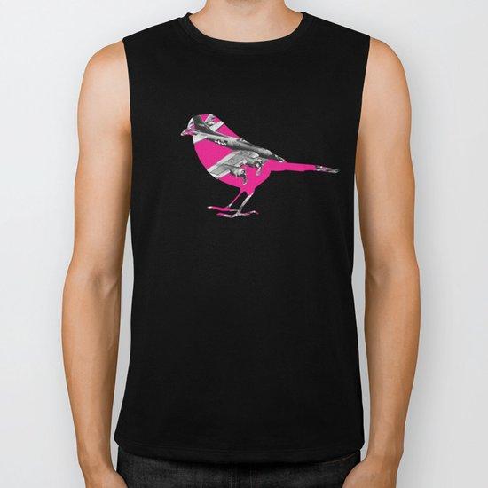 Pink Bomber Bird Biker Tank