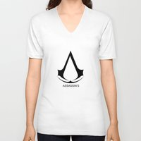 assassins creed V-neck T-shirts featuring Creed Assassins Brotherhood by aleha